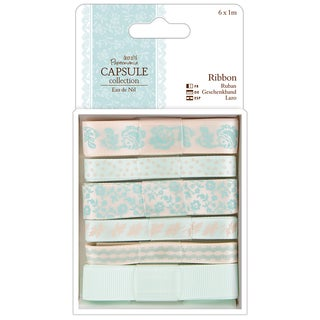 Papermania Eau De Nil Ribbon 6/Pkg-1m Each