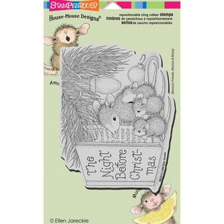 "Stampendous House Mouse Cling Rubber Stamp 4.5""X7.75"" Sheet-Christmas Story