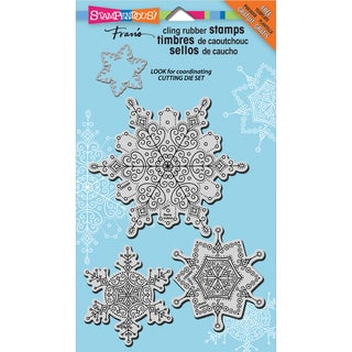 """Stampendous Christmas Cling Rubber Stamp 3.5""""X4"""" Sheet-Delicate Snow"""