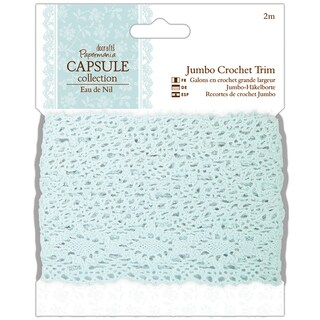 "Papermania Eau De Nil Jumbo Crochet Trim 1.5""X2m"