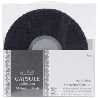 "Papermania Midnight Blush Adhesive Crochet Border .5""X5m|https://ak1.ostkcdn.com/images/products/9475705/P16658554.jpg?impolicy=medium"