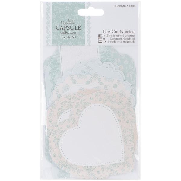Papermania Eau De Nil Notelets 18/Pkg-6 Designs/3 Each