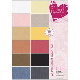 Papermania Paper Pack A4 24/Pkg-Pearlescent