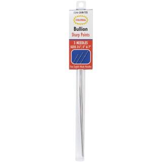 "Bullion Needles-Sharp Points Sizes 3.5"", 5"" & 7"" 3/Pkg"