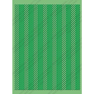 Cuttlebug A2 Embossing Folder-Herringbone