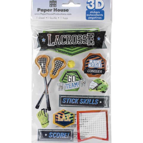 Paper House 3D Stickers-Lacrosse