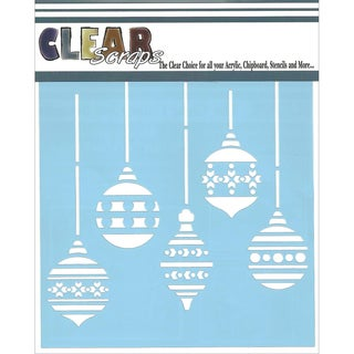 "Clear Scraps Stencils 6""X6""-Christmas Bulbs"