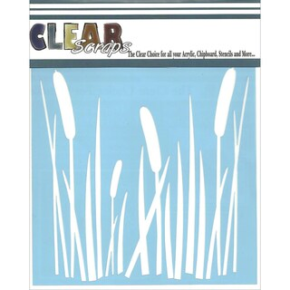 "Clear Scraps Stencils 6""X6""-Cattails"
