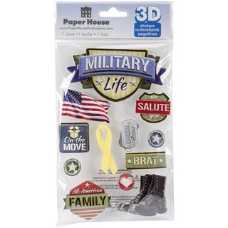 Paper House 3D Stickers-Military Life