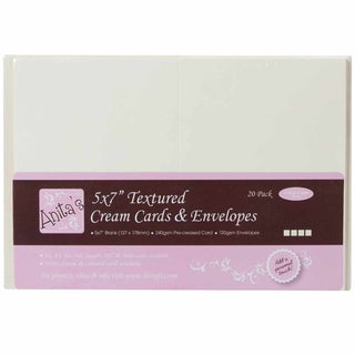 "Anita's Textured Cards/Envelopes 5""X7"" 20/Pkg-Cream"
