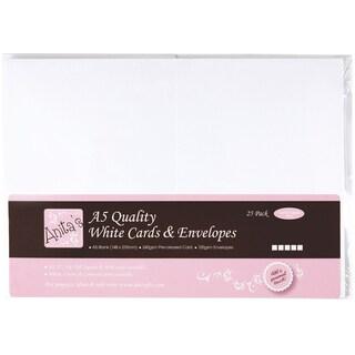 Anita's Cards/Envelopes A5 25/Pkg-White
