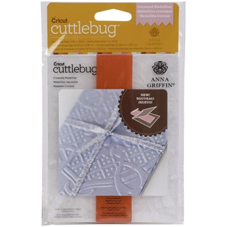 Cricut Cuttlebug A2 Embossing Folder/Border Set-Crown Medallion By Anna Griffin
