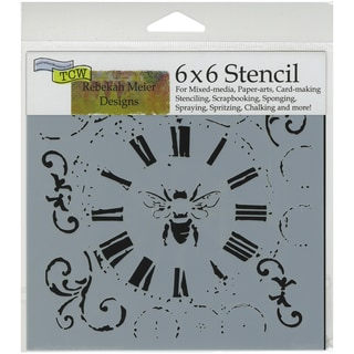 "Crafter's Workshop Template 6""X6""-Bee On Time"