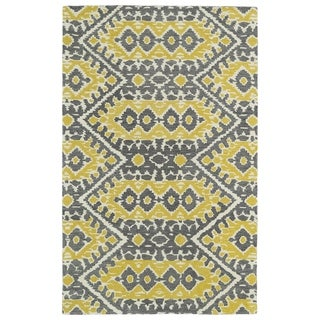 Hand-tufted de Leon Boho Yellow Rug (2'0 x 3'0)