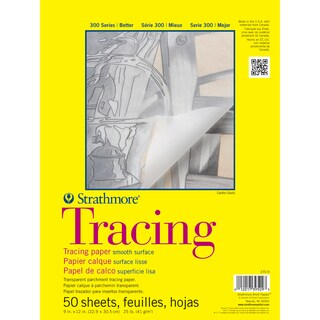 Strathmore Tracing Paper Pad 9X12-25lb 50 Sheets