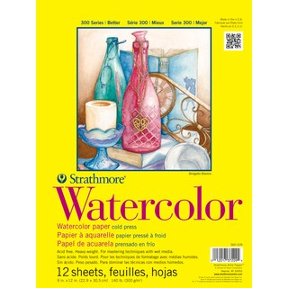 Strathmore Watercolor Paper Pad 9X12-140lb Cold Press 12 Sheets