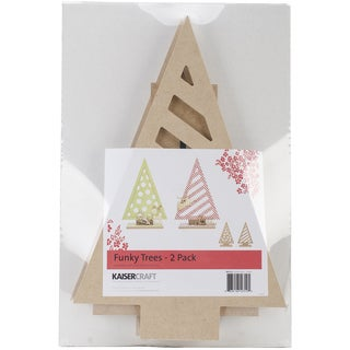 "Beyond The Page MDF Funky Trees 2/Pkg-13""X8.5""X2.75"""