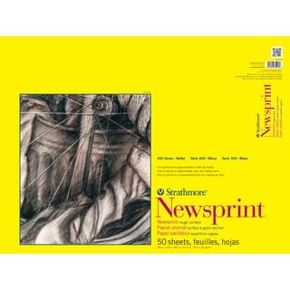 Strathmore Rough Newsprint Paper Pad 18X24-32lb 50 Sheets