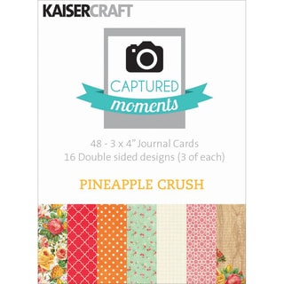 """Captured Moments Double-Sided Cards 3""""X4"""" 48/Pkg-Pineapple Crush"""