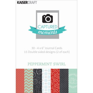 "Captured Moments Double-Sided Cards 6""X4"" 30/Pkg-Peppermint Swirl"