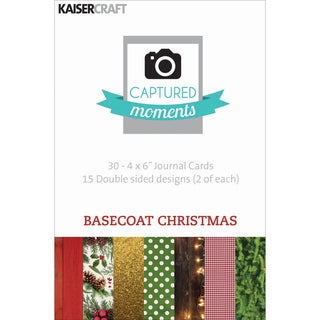 """Captured Moments Double-Sided Cards 6""""X4"""" 30/Pkg-Basecoat Christmas"""