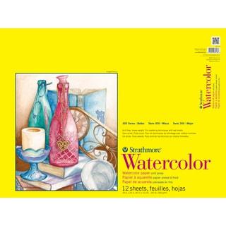 Strathmore Watercolor Paper Pad 18X24-140lb Cold Press 12 Sheets