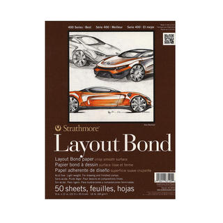 Strathmore Layout Bond Paper Pad 9X12-16lb 50 Sheets