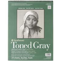 Strathmore Toned Sketch Paper Pad 11X14-80lb Gray 24 Sheets