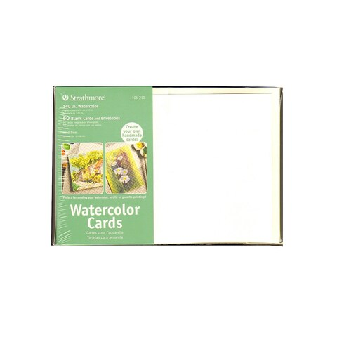 Strathmore Cards And Envelopes 5X7 50pkg-Watercolor