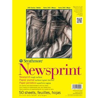 Strathmore Smooth Newsprint Paper Pad 18X24-32lb 50 Sheets