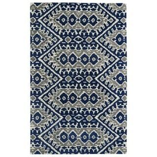 Hand-tufted de Leon Boho Navy Rug (8' x 10')