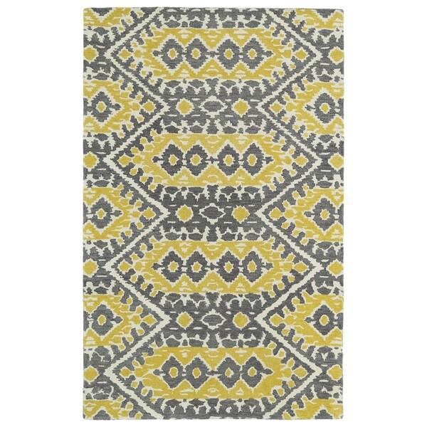 "Hand-tufted de Leon Boho Yellow Rug (3'6 x 5'6) - 3'6"" x 5'6"""