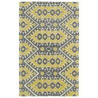 Hand-tufted de Leon Boho Yellow Rug (5'0 x 7'9)