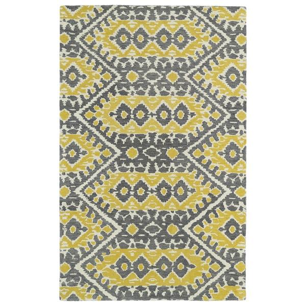 Hand-tufted De Leon Boho Yellow Rug (8'0 X 10'0)