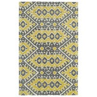 Hand-tufted de Leon Boho Yellow Rug (9'0 x 12'0)