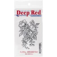 "Deep Red Cling Stamp 2""X3""-Floral Arrangement"