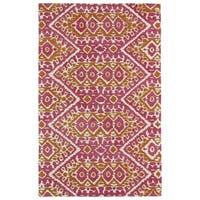 Hand-tufted de Leon Boho Pink Rug (2'0 x 3'0)