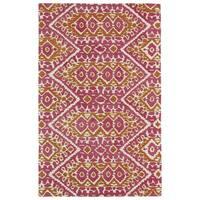 Hand-tufted de Leon Boho Pink Rug (8'0 x 10'0)