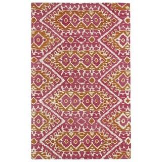 Hand-tufted de Leon Boho Pink Rug (9'0 x 12'0)