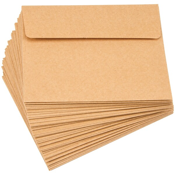 "Smooth A2 Envelopes (4.375""X5.75"") 50/Pkg-Kraft"