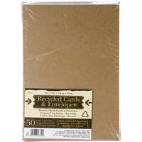 "A7 Cards & Envelopes (5""X7"") 50/Pkg-Kraft"