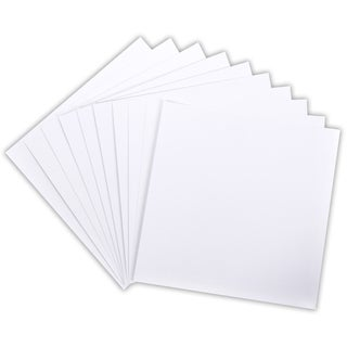 "Core'dinations 110lb Smooth Cardstock 12""X12"" 10/Pkg-White"