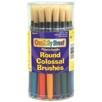 Round Colossal Paint Brush Canister 30/Pkg