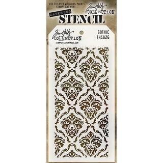 """Tim Holtz Layered Stencil 4.125""""X8.5""""-Gothic"""