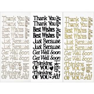 Dazzles Stickers 3/Pkg-Everyday Greetings