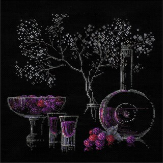 "Still Life With Liquor Counted Cross Stitch Kit-11.75""X11.75"" 14 Count"
