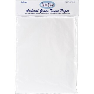 "Archival Grade Tissue Paper - Buffered-24""X36"" 12/Pkg"