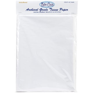 "Archival Grade Tissue Paper - Unbuffered-24""X36"" 12/Pkg"