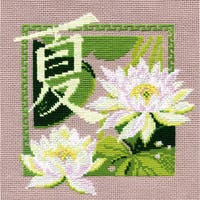 "Summer Counted Cross Stitch Kit-8""x8"" 16 Count"