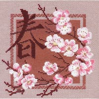 """Spring Counted Cross Stitch Kit-8""""x8"""" 16 Count"""